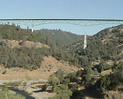 ForestHill Bridge - highest bridge in Califonia - 733 feet