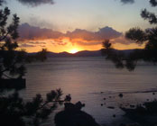 Sunset in Tahoe